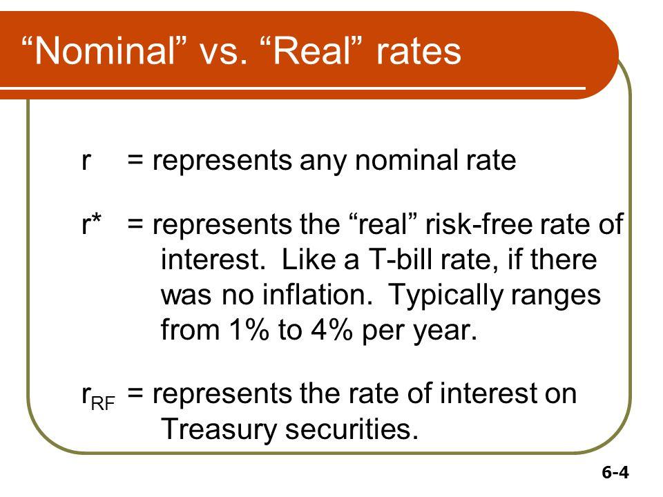 6-4 Nominal vs.