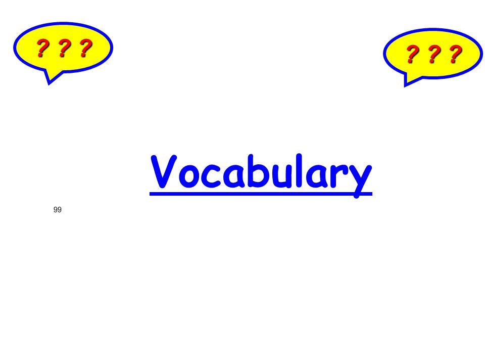 ? ? ? Vocabulary 99