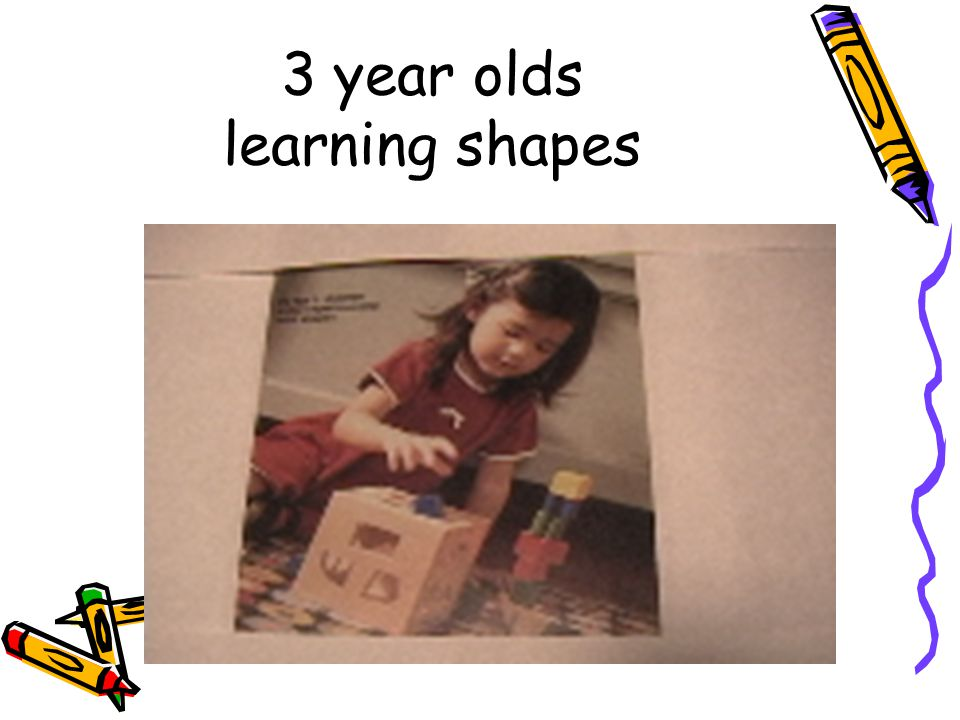 3 year olds learning shapes