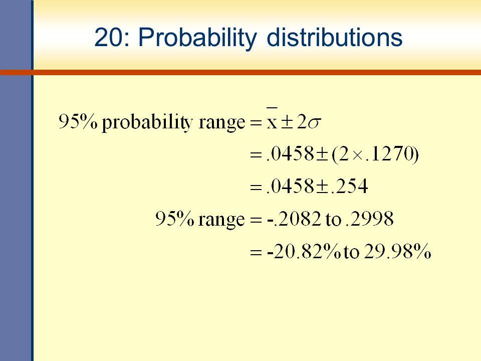 20: Probability distributions