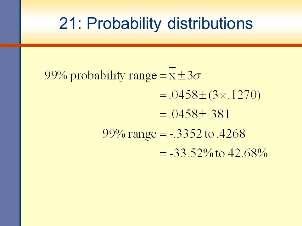 21: Probability distributions