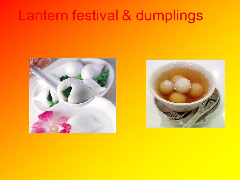 Lantern festival & dumplings