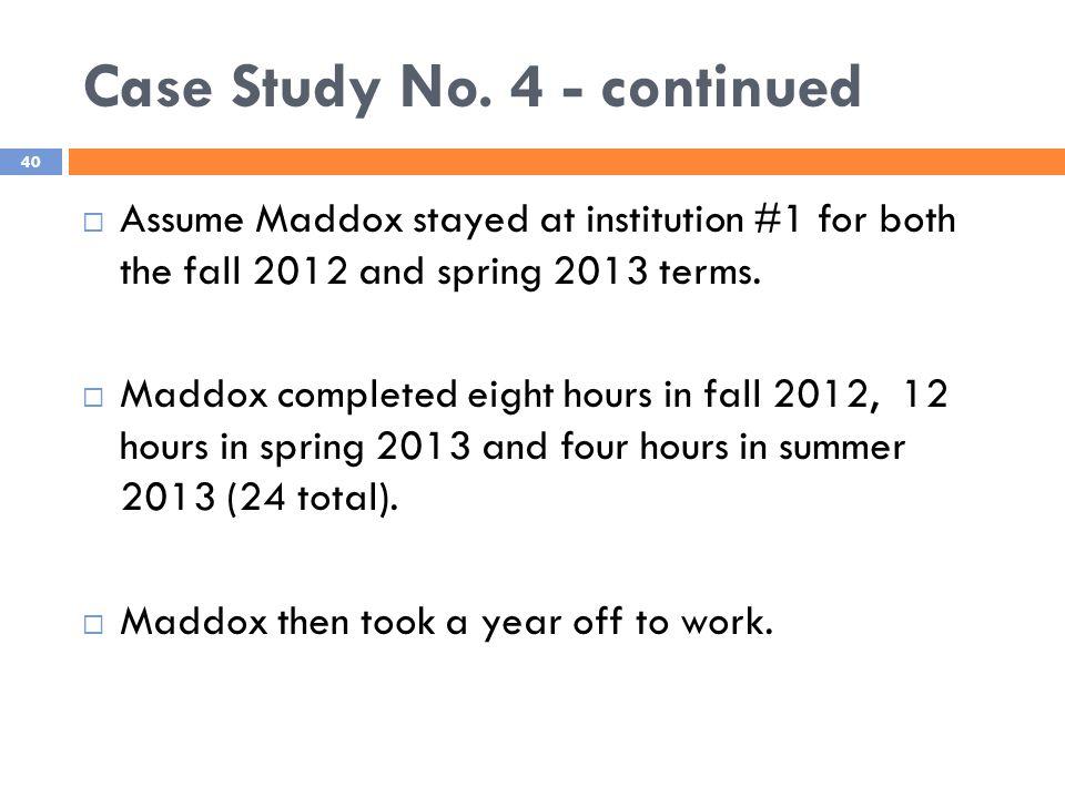 Case Study No.