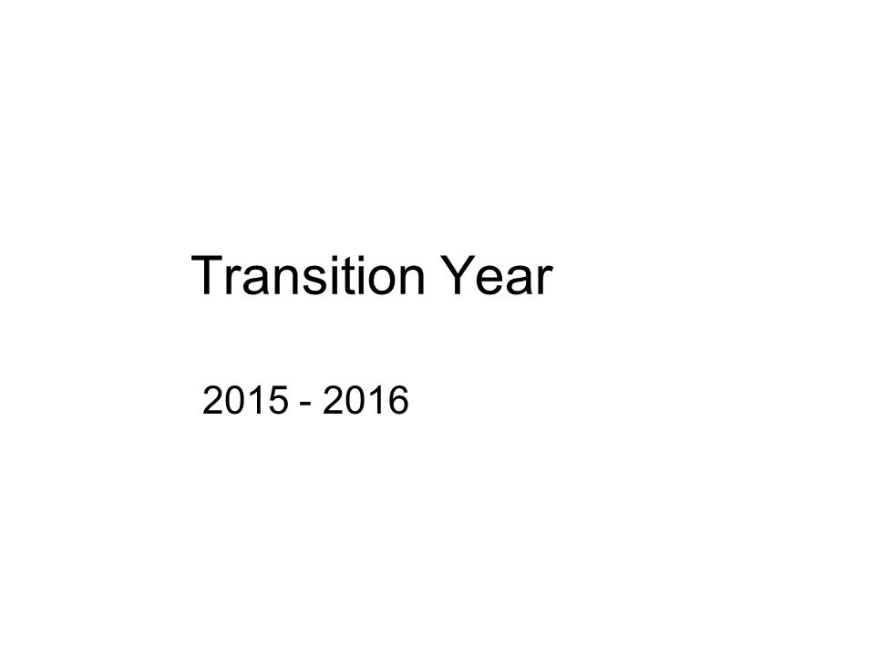 Transition Year 2015 - 2016