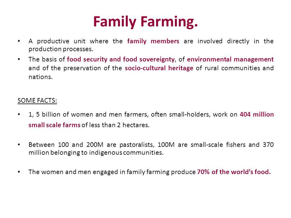 Family Farming.
