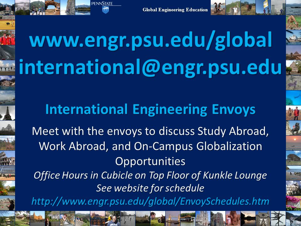Global Engineering Education Where Will You Go?