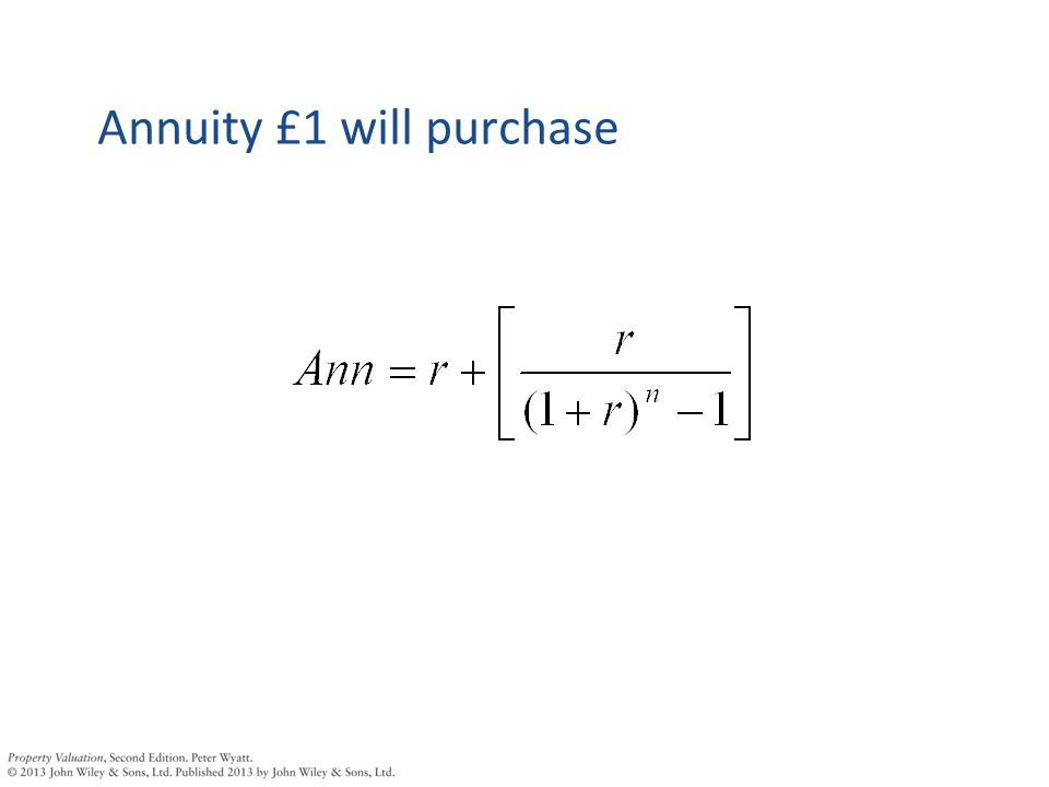 Annuity £1 will purchase