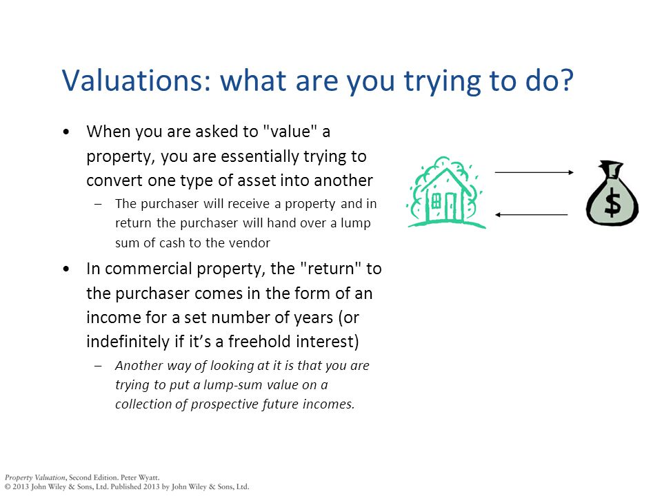 Valuations: what are you trying to do.