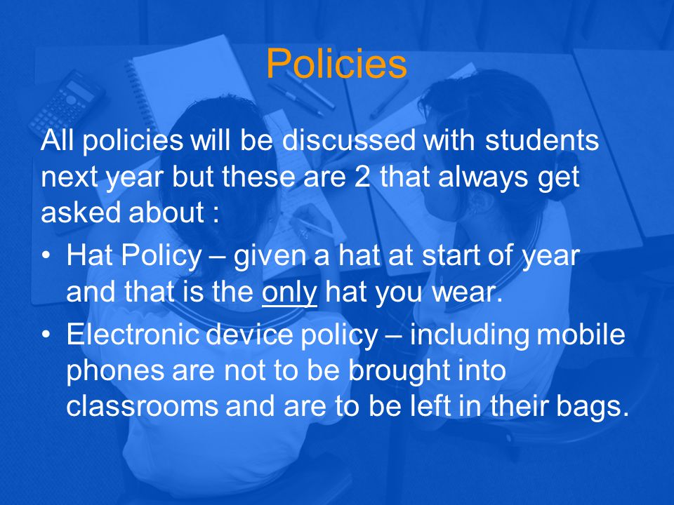 BYOx Policy In 2015 USHS will provide access to allow students in Years 7-9 to bring approved, personally-owned, computing devices into the classroom to assist with learning opportunities.