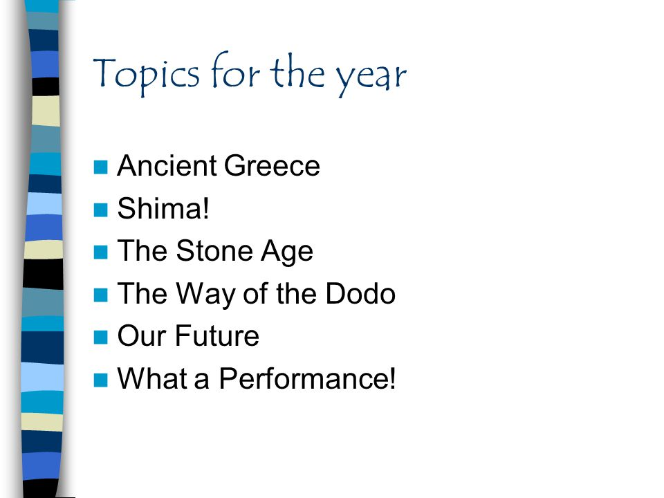 Topics for the year Ancient Greece Shima.