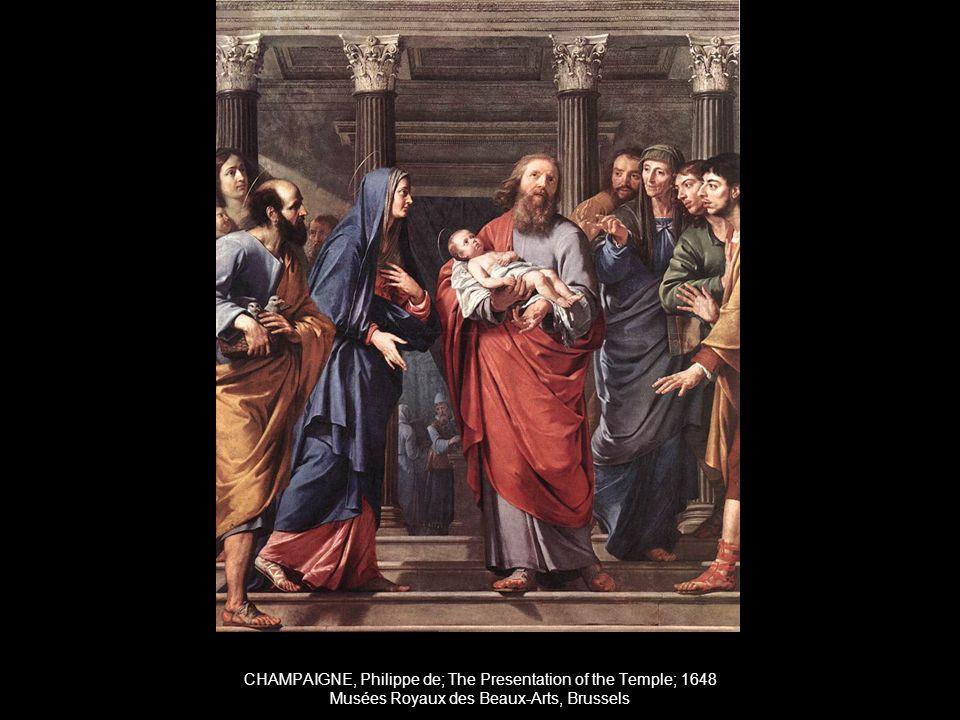 CHAMPAIGNE, Philippe de; The Presentation of the Temple; 1648 Musées Royaux des Beaux-Arts, Brussels