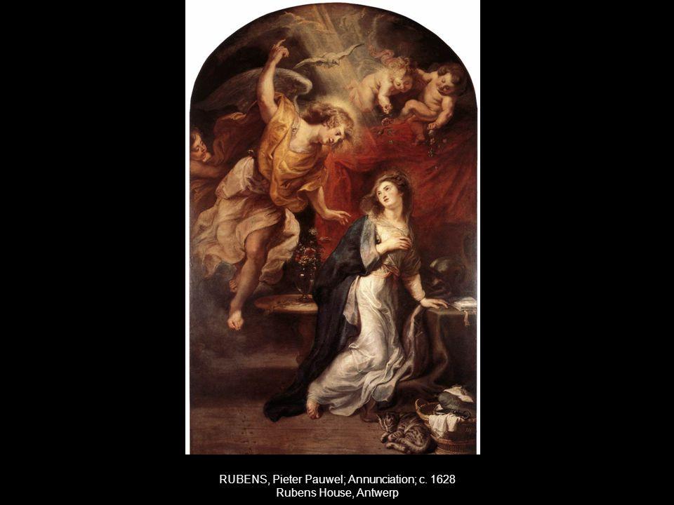 RUBENS, Pieter Pauwel; Annunciation; c. 1628 Rubens House, Antwerp