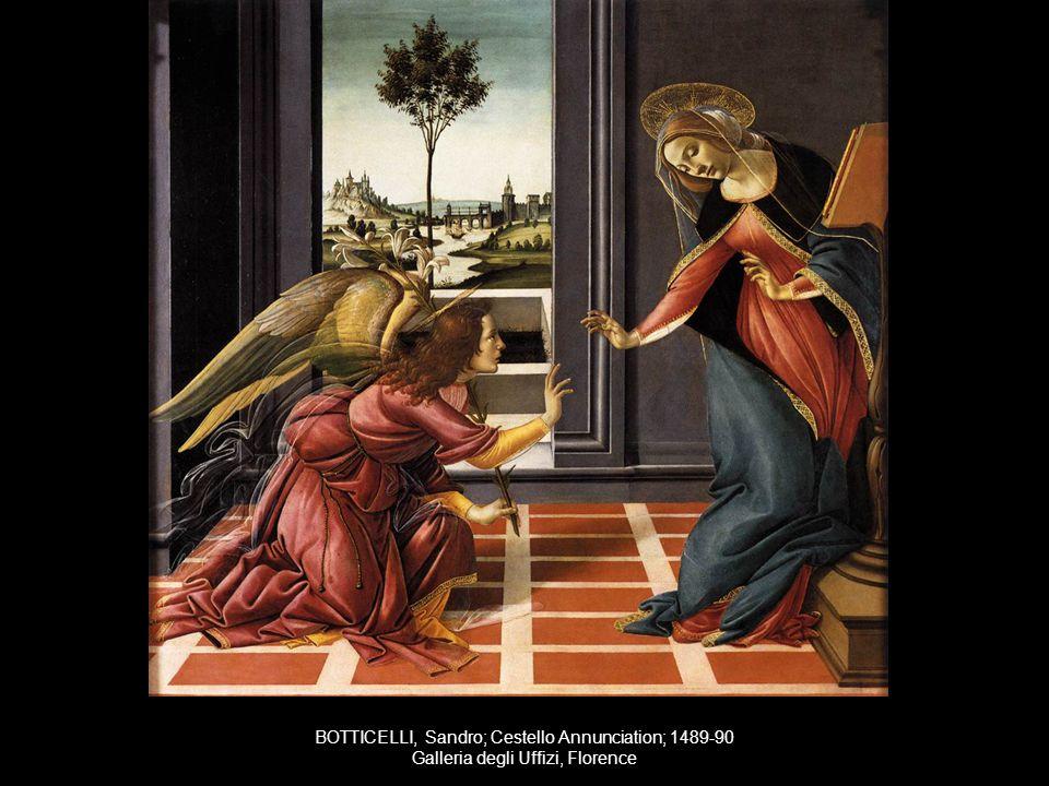 BOTTICELLI, Sandro; Cestello Annunciation; 1489-90 Galleria degli Uffizi, Florence
