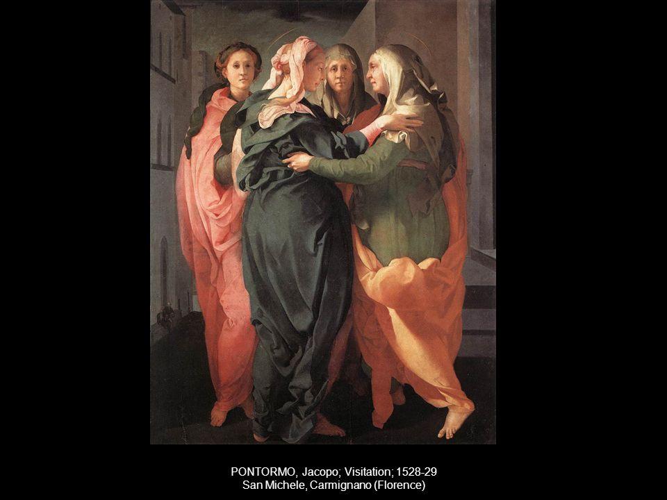 PONTORMO, Jacopo; Visitation; 1528-29 San Michele, Carmignano (Florence)