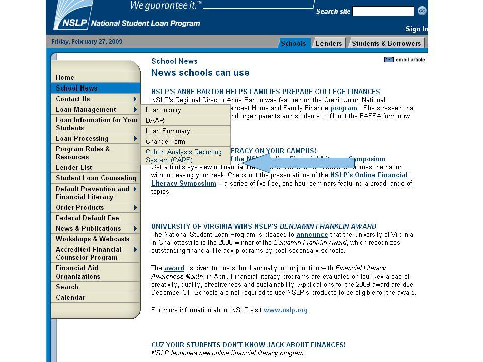 Copyright 2010 National Student Loan Program