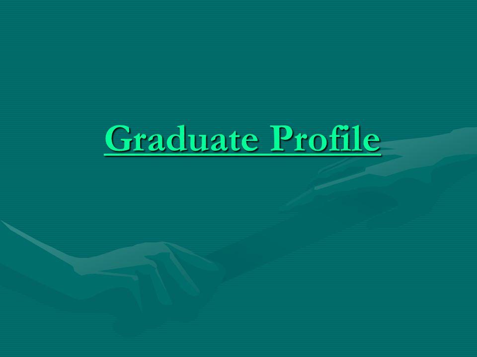 Graduate Profile Graduate Profile