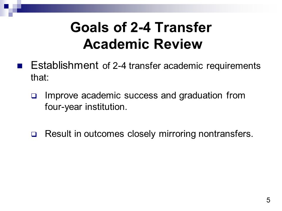 26 Current 2-4 Transfer Standards Qualifier Continued The student-athlete is considered enrolled full time and subject to the average of 12 standard when: Registers in a term full time; and Attends the student s first day of classes for that term.