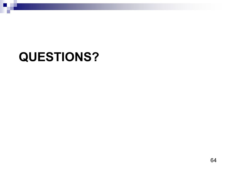 64 QUESTIONS