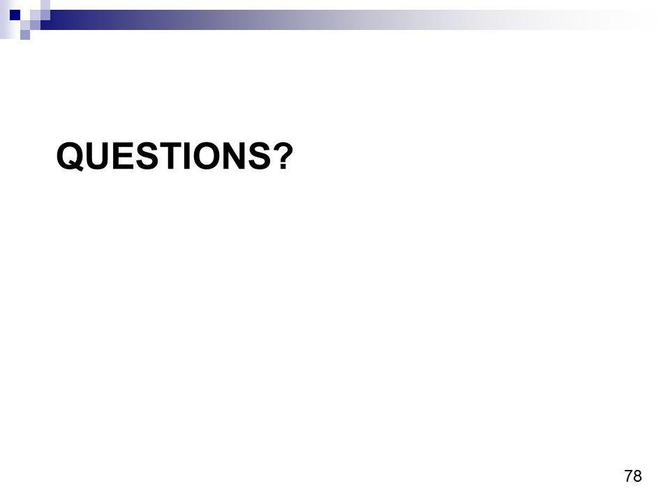 78 QUESTIONS