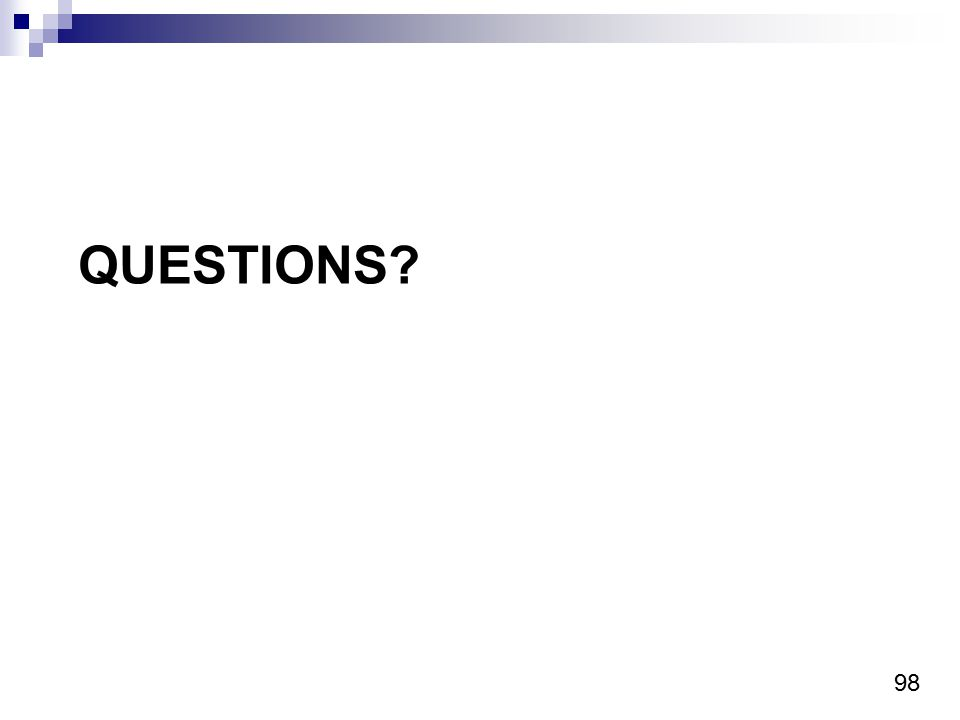 98 QUESTIONS