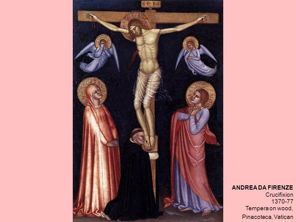 ANDREA DA FIRENZE Crucifixion 1370-77 Tempera on wood, Pinacoteca, Vatican