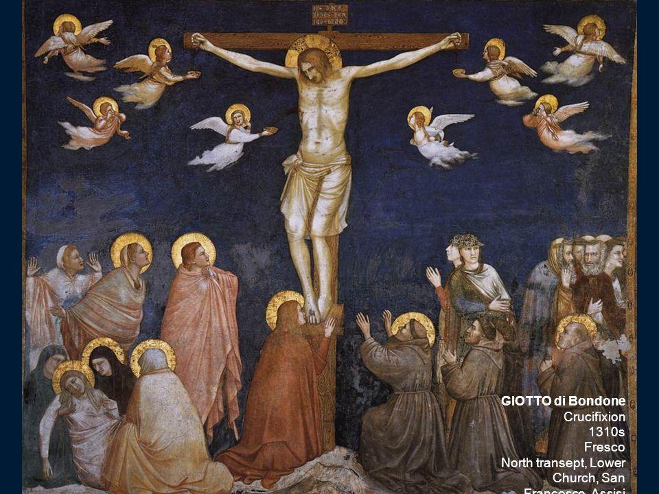 GIOTTO di Bondone Crucifixion 1310s Fresco North transept, Lower Church, San Francesco, Assisi