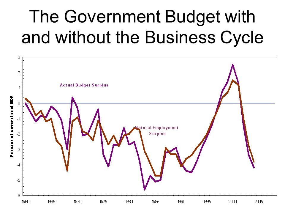 The Government Budget with and without the Business Cycle