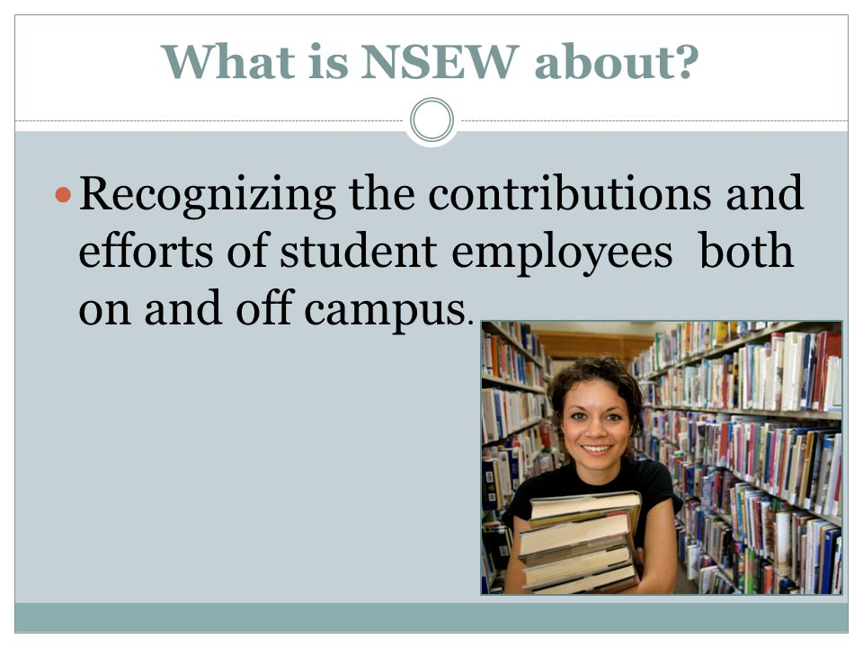 What is NSEW about.