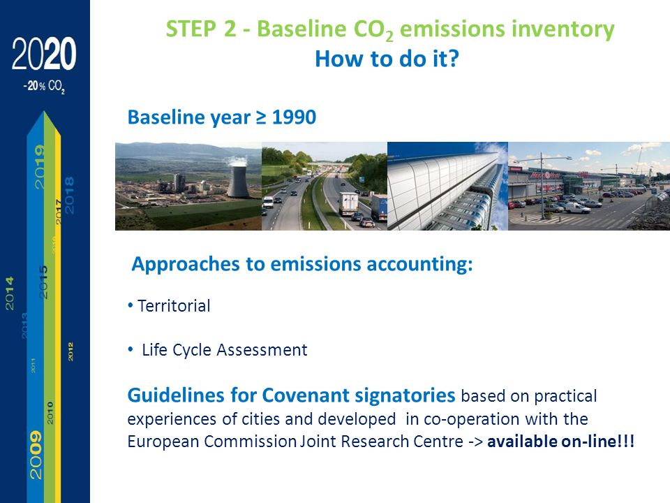 STEP 2 - Baseline CO 2 emissions inventory How to do it.