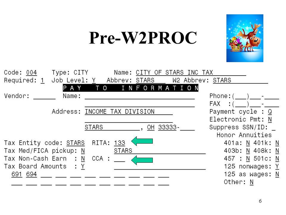 6 Pre-W2PROC