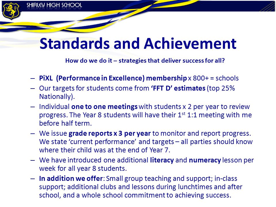 Standards and Achievement How do we do it – strategies that deliver success for all.