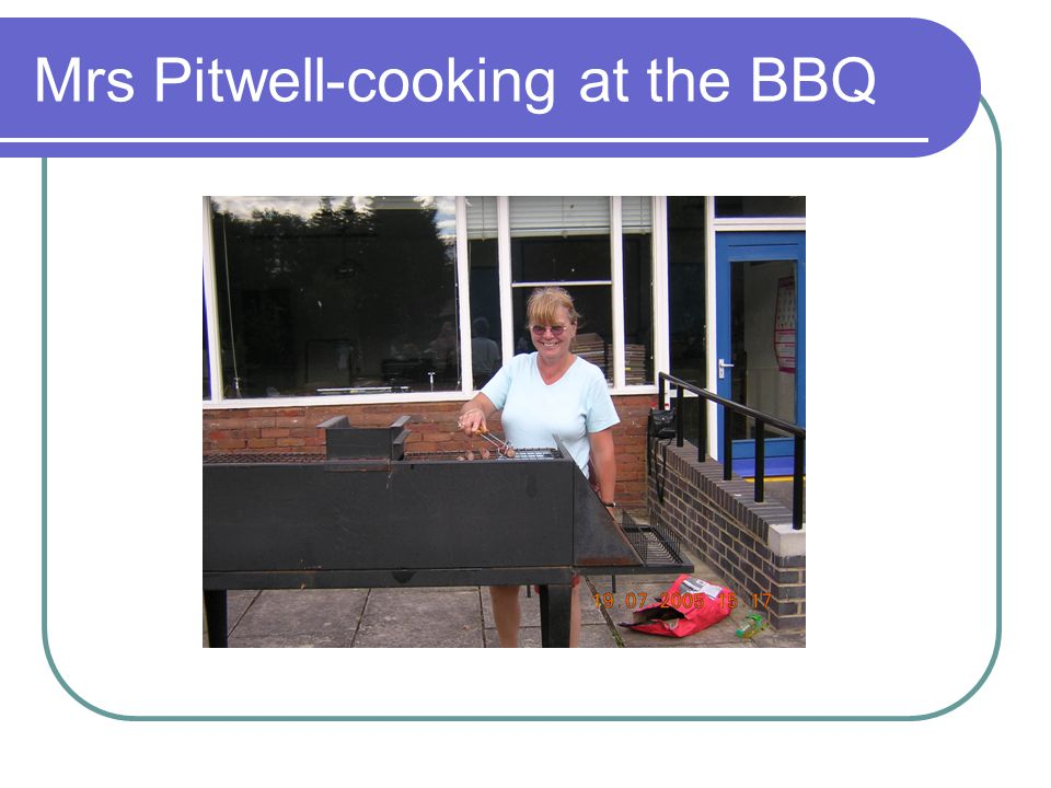 Mrs Pitwell-cooking at the BBQ
