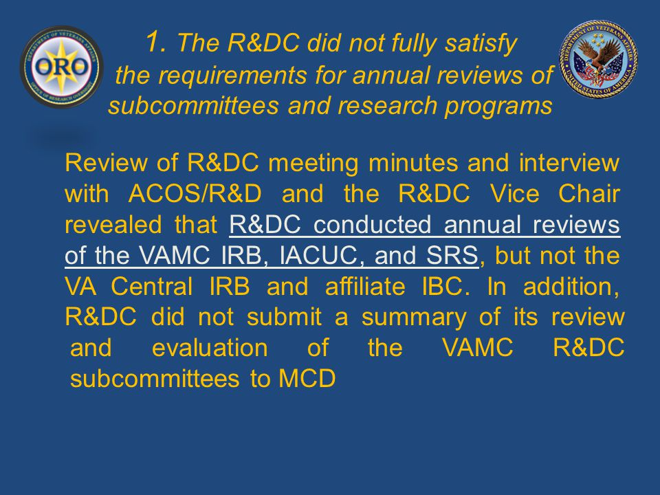 2.Research personnel and/or oversight committee members did not complete required training.