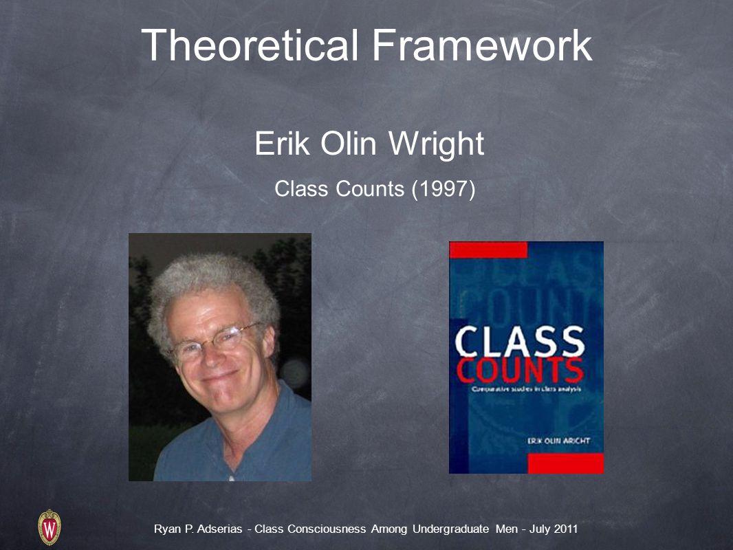 Ryan P. Adserias - Class Consciousness Among Undergraduate Men - July 2011 Theoretical Framework Erik Olin Wright Class Counts (1997)
