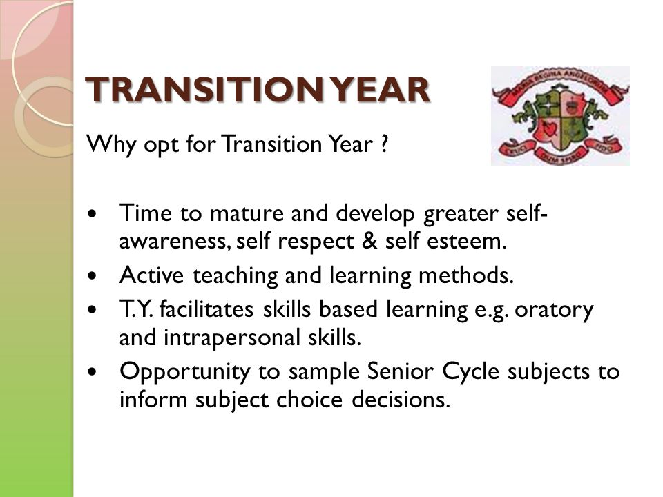 PEELING THE LAYERS OF A T.Y.PROGRAMME. 1. CORE SUBJECTS.