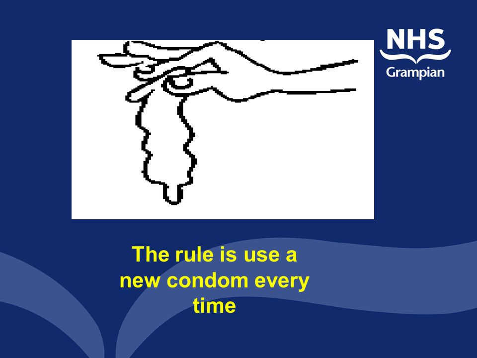 The rule is use a new condom every time