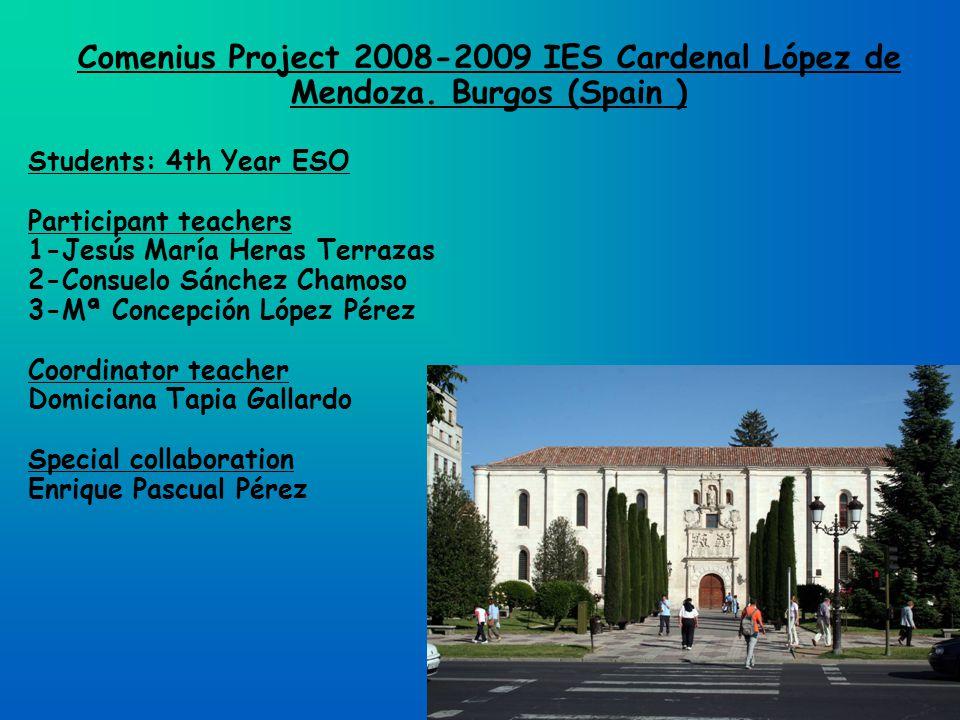 Comenius Project 2008-2009 IES Cardenal López de Mendoza.