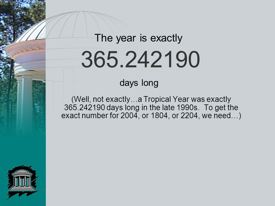 365.242190 (Well, not exactly…a Tropical Year was exactly 365.242190 days long in the late 1990s.