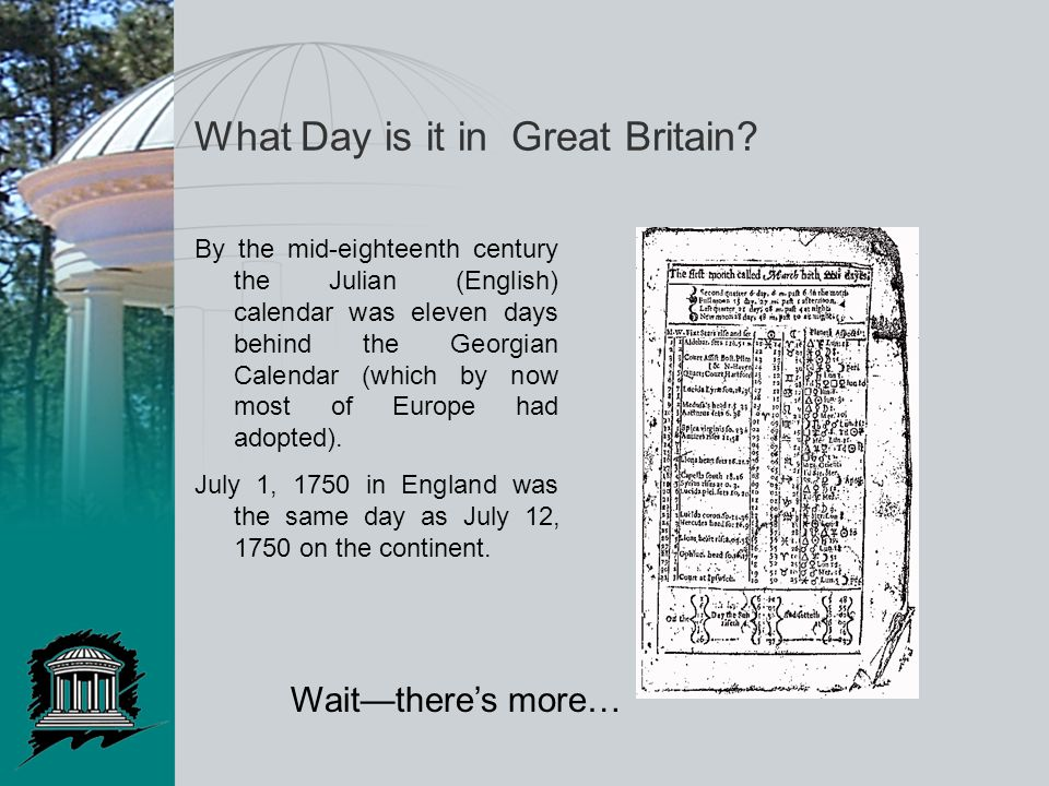 What Day is it in Great Britain.