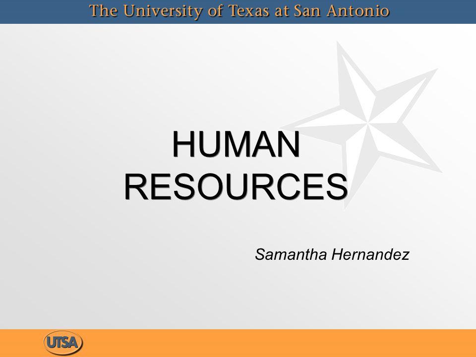 HUMAN RESOURCES Samantha Hernandez