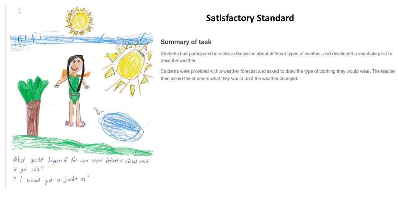 Satisfactory Standard
