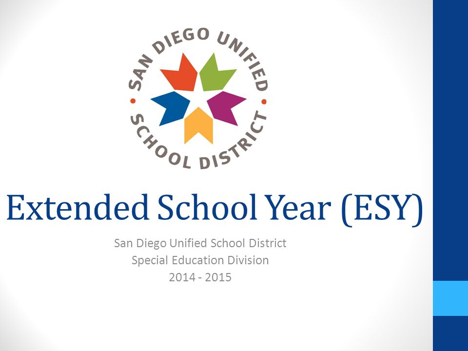Federal/State Definition of ESY  Extended school year (ESY) services are services provided beyond the regular school year that are required for a student to make educational progress during the school year.