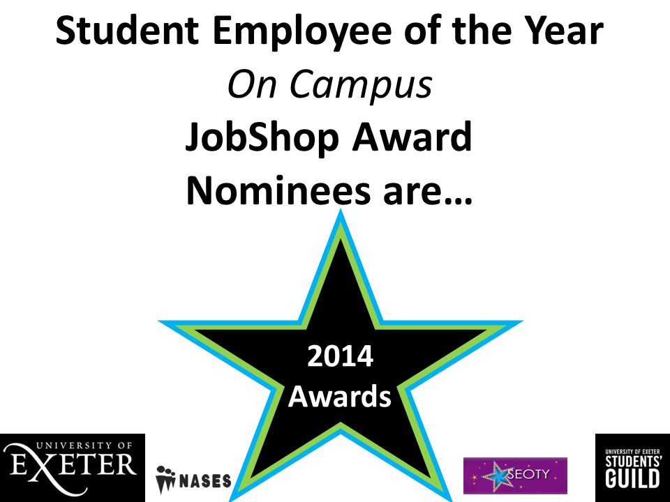 Student Employee of the Year Winners 2014 Awards
