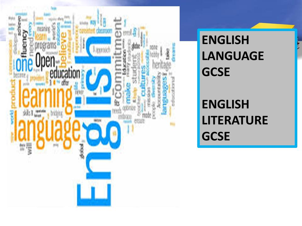 ENGLISH LANGUAGE GCSE ENGLISH LITERATURE GCSE