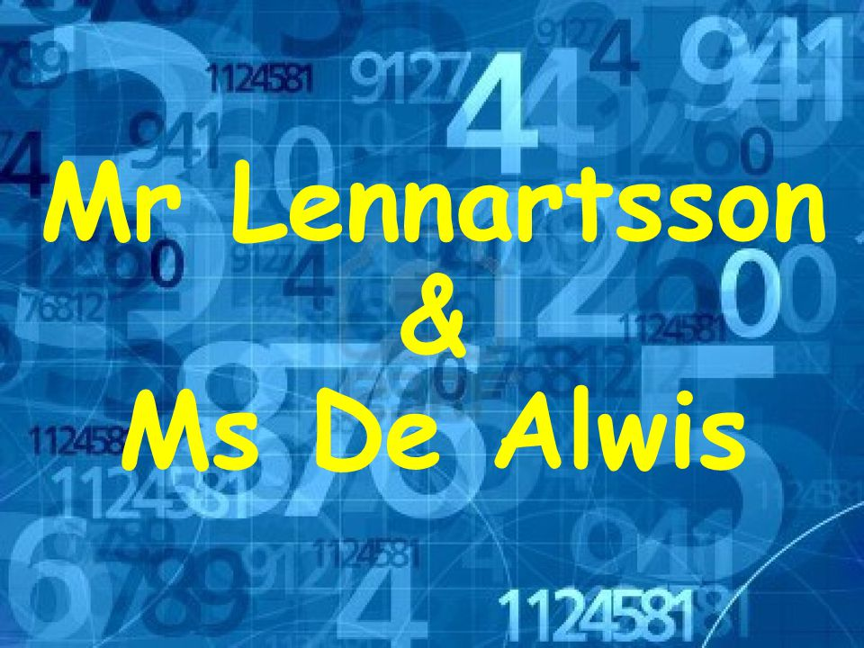 Mr Lennartsson & Ms De Alwis