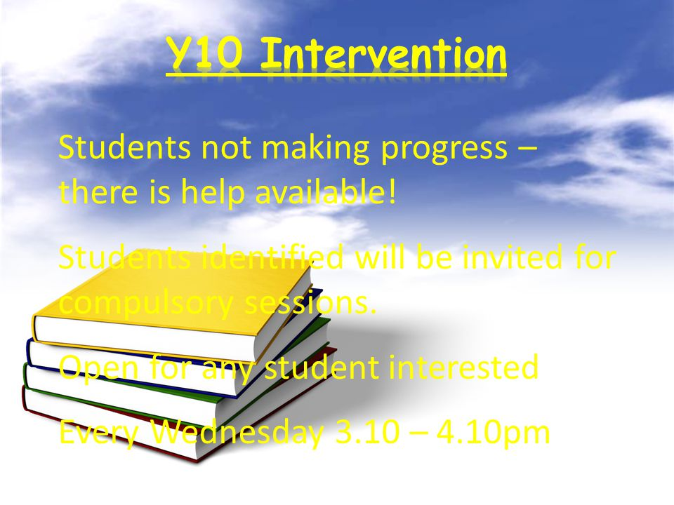 Students not making progress – there is help available.