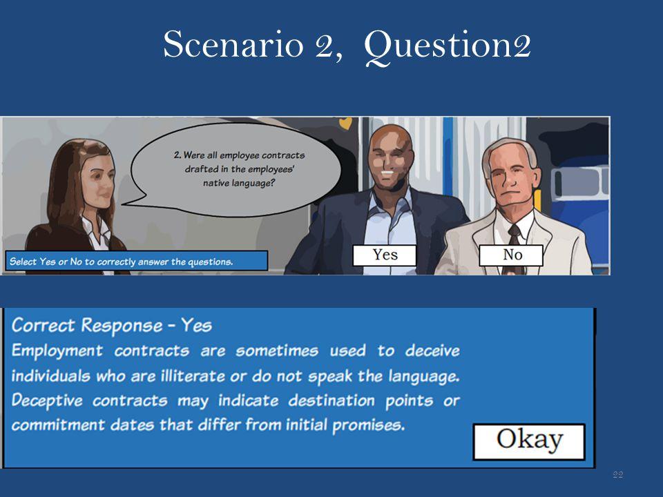 22 Scenario 2, Question2