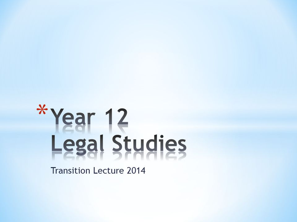 Transition Lecture 2014