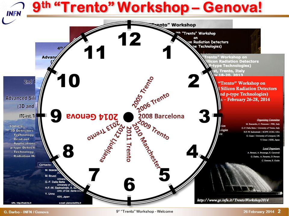 9° Trento Workshop - Welcome G.