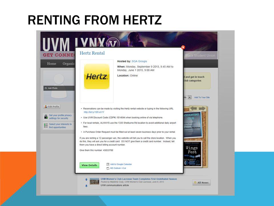 RENTING FROM HERTZ